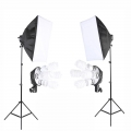 2 Stand Light Studio Lighting Soft box Photo Equipment Kit