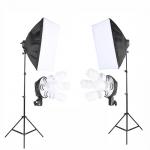 2 Stand Light Photo Studio Lighting Soft box Equipment Kit