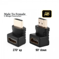 HDMI 90 270 degree L shaped Connector Cable Male to Female Converter