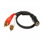 40cm Stereo Audio Aux 3.5mm Female to 2 RCA L/R Male Cable Converter