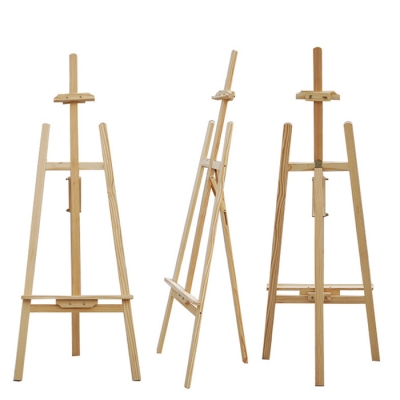 Wood Easel Art Poster Decoration Menu Stand Painting Display Set