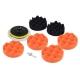 9pcs 4inch Polishing Sponge Pad M10 Drill Adapter Kit For Car Polisher