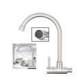 304 Stainless Steel Wall Swivel Kitchen Basin Faucet Water Tap