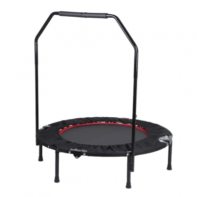 40 inch Foldable Fitness Trampoline Jumping Bed Armrest Support