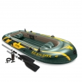 INTEX 68351 Seahawk 4 Person Inflatable Boat Set FREE 2x Oars
