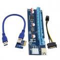 PCIE PCI-E Express 1X to 16X Mining Extender Riser Card USB3.0 V006C