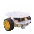 Arduino 2WD 2 Layer Round Robot Car Chassis Kit (FREE Battery Holder)