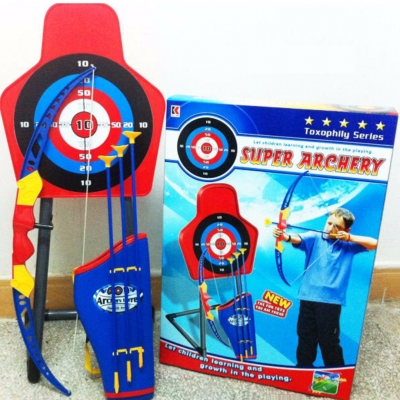 Archery Toxophily Set Bow Sports Game Kids Toys with Infrared Light