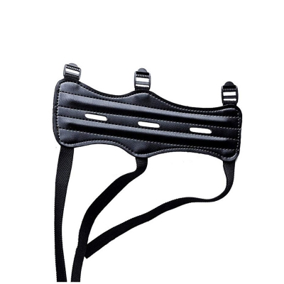 Leather 3 Straps Shooting Archery Arm Guard Bow Safety Protective