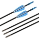 12pcs Fiberglass 6mm Archery Arrow Set Anak Panah