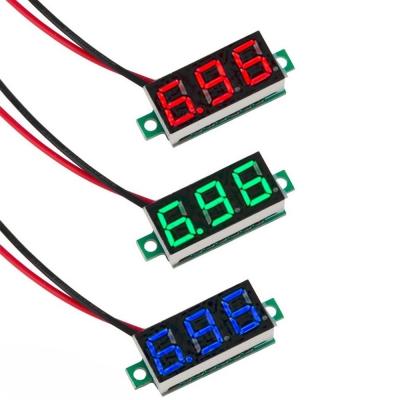 0.36 inch Digital Voltmeter DC4.5V-30V LED Panel Voltage Meter 2 Wire