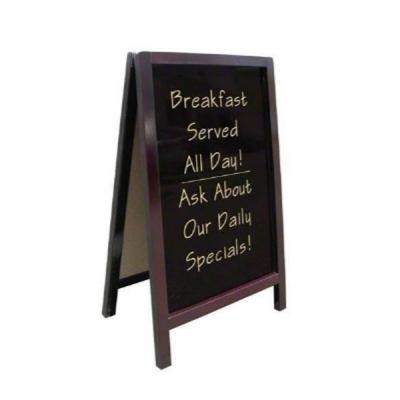 Cafe Coffee Shop Menu 2 Side Wood Board Whiteboard Blackboard 110x66cm