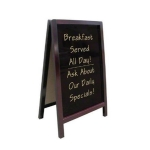Cafe Coffee Shop Menu 2 Side Wood Board Whiteboard Blackboard 85x55cm