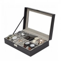8+3 Mixed Grids Watch Jewelry Box Case Pu Leather Display Storage box