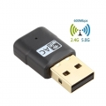600Mbps Dual Band 2.4GHz 5GHz PC USB WiFi Adapter Dongle