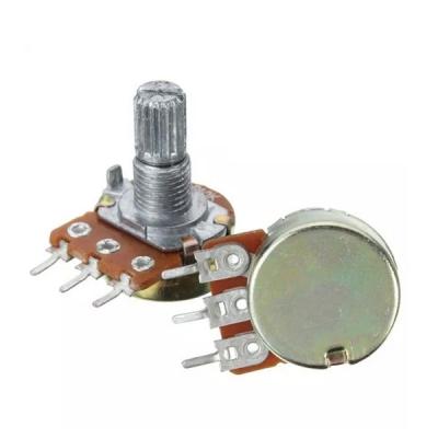 10K Ohm Linear Taper Rotary Potentiometer 3 Pin 15mm Shaft Nut