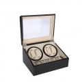 PU Leather 4+6 Watch Winder Box Storage Display Automatic Rotation