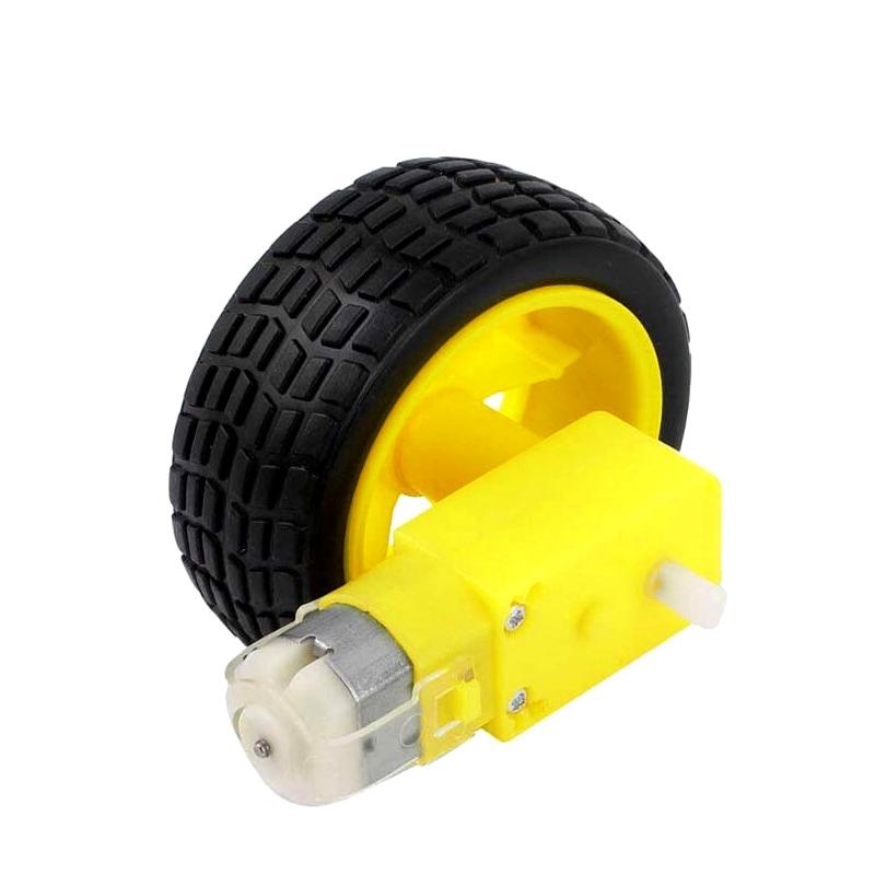Smart Car Robot Plastic Tire Wheel with DC 3-6v Gear Motor