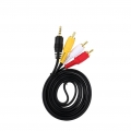1.5M Stereo Audio Aux 3.5mm Male (3 Line) to 3 RCA Male Cable