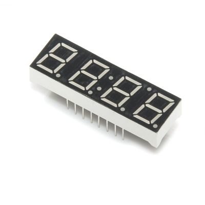 4 Digit 7 Segment Clock Red LED Number ANODE F5463bh 14pin
