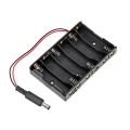 Battery Holder Case 1.5V AA x 6 Slots With DC 2.1 Power Jack