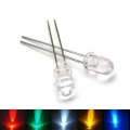 5mm Transparent Body Super Bright LED -White, Red, Yellow, Blue, Green