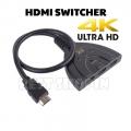 4Kx2K 3 In 1 out Mini 3 Port HDMI Splitter Adapter 1080P Switcher Hub
