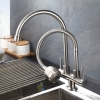 304 Stainless Steel Double Way Out Fixed and Flexible Faucet