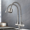 304 Stainless Steel Both Double Flexible Kitchen Faucet Water Tap