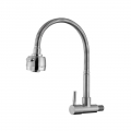 304 Stainless Steel Flexible Wall Mounted Kitchen Faucet Water Tap