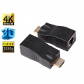 2 x 4K 1080P HDMI Extender RJ45 Cat 5e/6 Network Ethernet Adapter