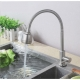 304 Stainless Steel Flexible Sink Bathroom Basin Water Tap Faucet