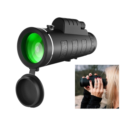 Mini Monocular Telescope HD Clear Night View with Phone Holder 40×60