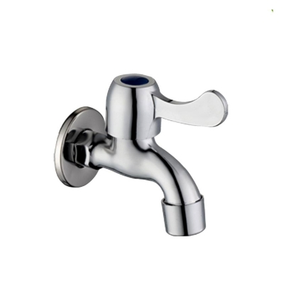 Finish Chrome Washing Machine Single Handle Faucet Wall Mount