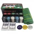 Poker Set 200 Chips Texas Hold Casino  (Display Unit)