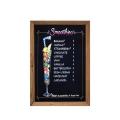 Wood Black Magnetic Wooden Framed Menu Cafe Chalk Board 45*60cm