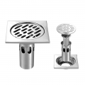 Floor Drain 10cm 3 layer Anti Odour DEEP FLOOR Stainless Steel