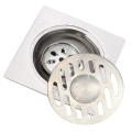 Floor Drain 10cm 3 layer Anti Odour [Dual Use] Stainless Steel