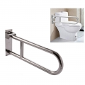 304 Stainless Steel Foldable U Shape Toilet Safety Grab Bar 70cm long