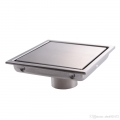Floor Drain Square 3 Layer 11x11cm 304 Stainless Steel Anti Odor
