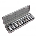 "10pcs 1/2"" L Type Combination Socket Spanner Wrench Box Tool Set"