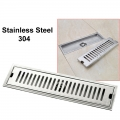 Long Floor Drain 30cm [Square] Anti Odour Stainless Steel 304