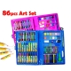86 pcs Kids Painting Water Pen Crayon Drawing Art Set Colour Pencil