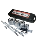 Chrome Dumbell & Barbell Weight Lifting Set 50KG