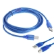 USB 2.0 Printer Cable Type A Male to Type B Male High Speed Blue