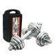 Chrome Dumbell & Barbell Weight Lifting Set 10KG 15KG 20KG [YORK]