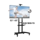 NB 55 to 80 Inch Portable TV Trolley Stand Mount AVA1800-70-1P