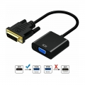 DVI 24+1 DVI-D Dual Link Male to VGA Female Adapter Converter