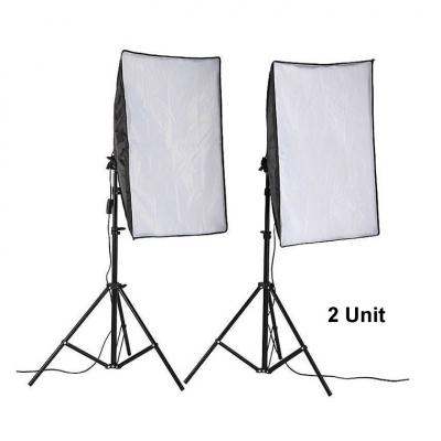50x70cm Photo Lighting Studio E27 Softbox Video Kit + Stand (2 units)