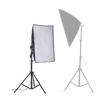 50x70cm Photo Lighting Studio E27 Softbox Video Kit + Stand (1unit)